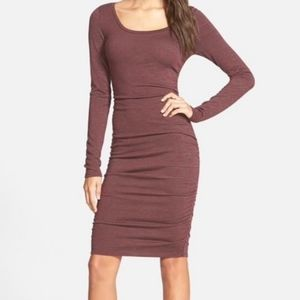 Leith Ruched Bodycon Long Sleeve Dress